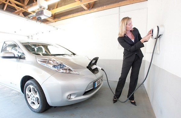 Home charging your Nissan Leaf