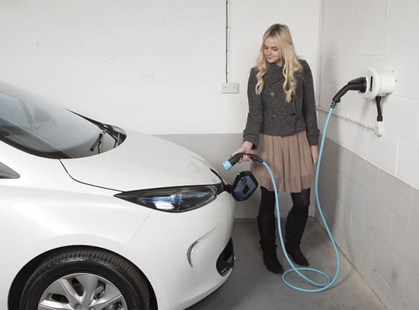 Homecharger for electric cars