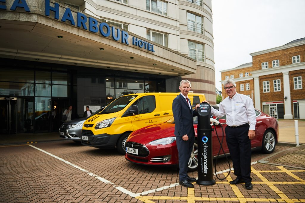 Edmund King President of the AA and David Martell CEO of Chargemaster