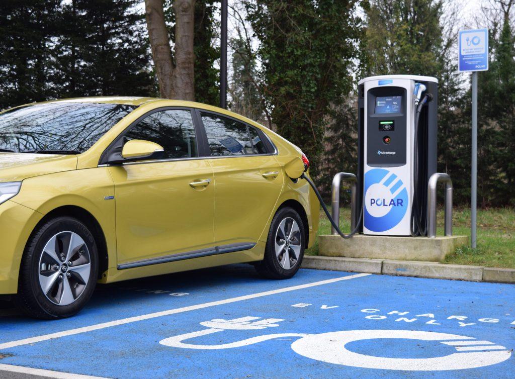 Hyundai IONIQ at Ultracharge charging point