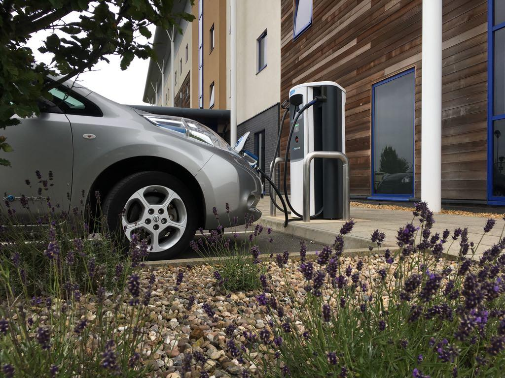 Chargemaster Ultracharge floor mounted electric vehicle charge point