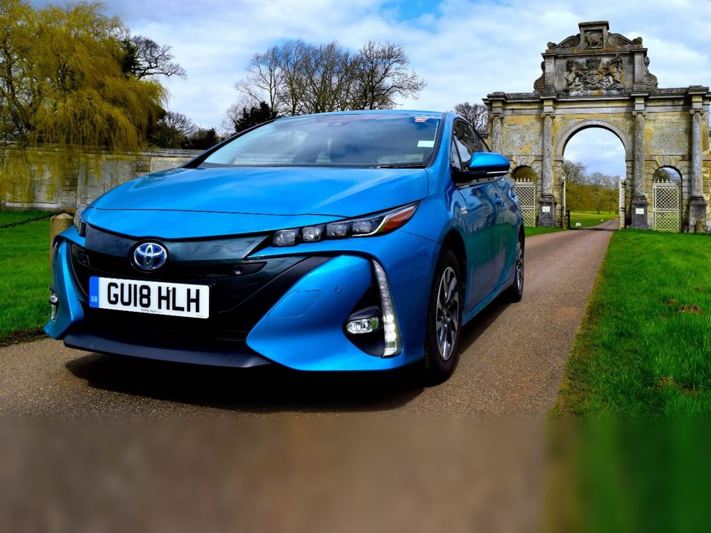 Toyota prius plugin electric car EV