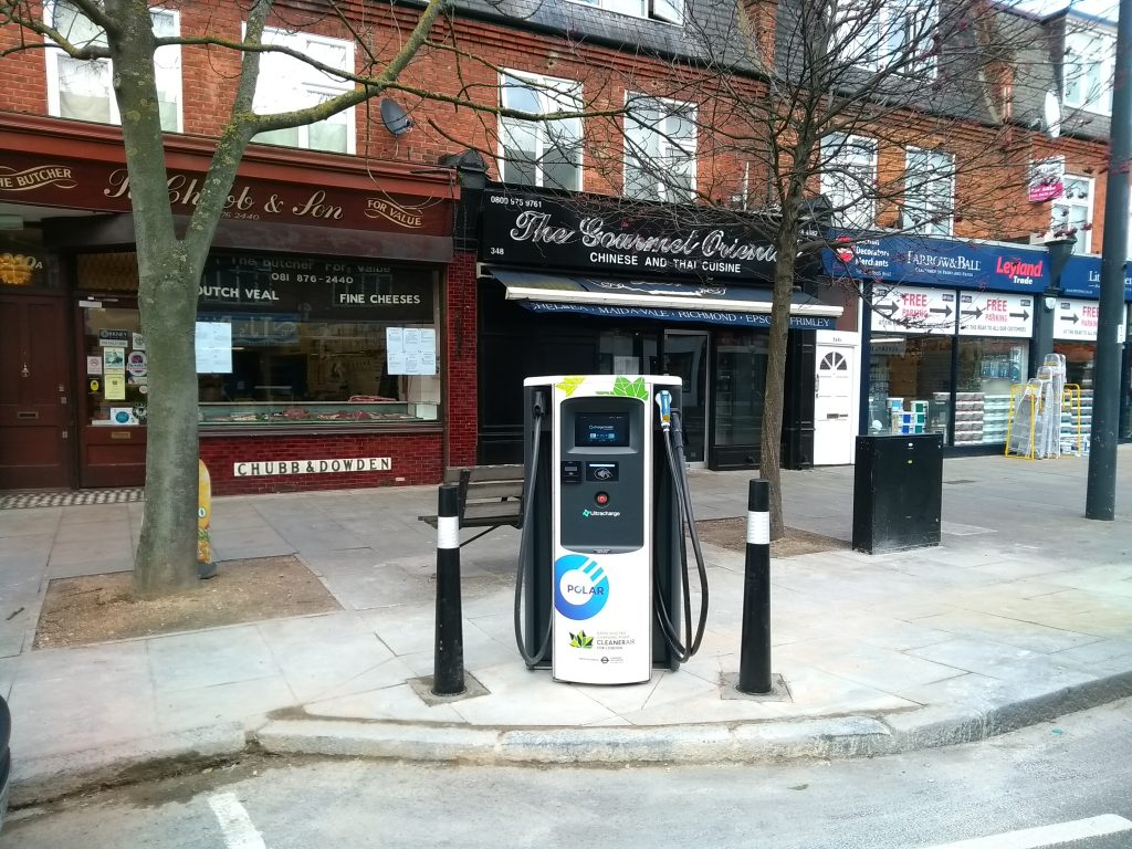 Ultracharge rapidcharge public unit 348352 on Upper Richmond Road West, SW14 7JT