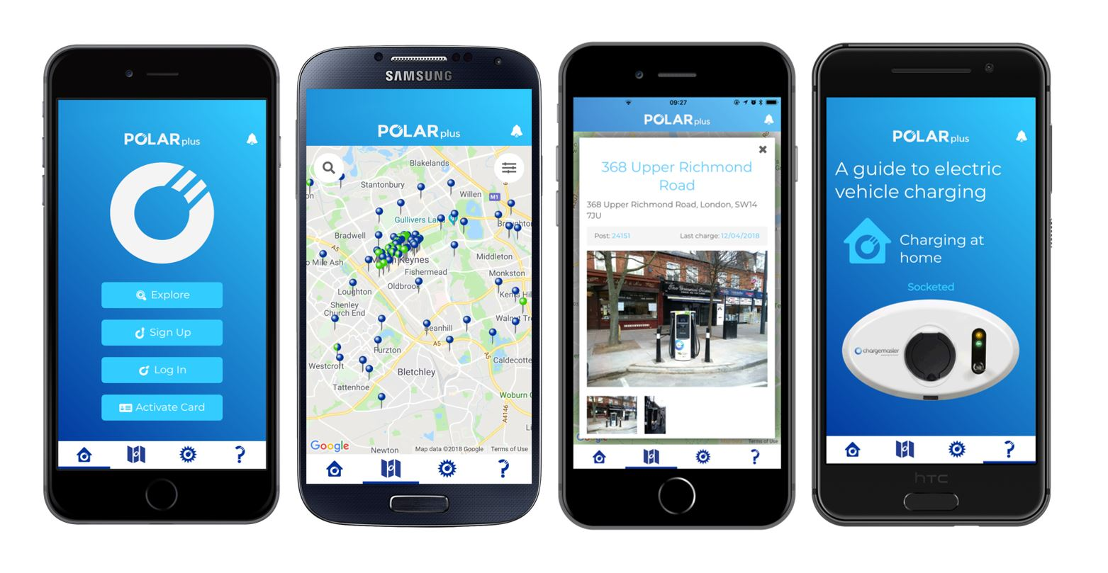 iPhone and Android mobile phone application - app images