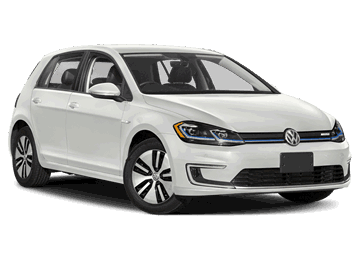 Volkswagen eGolf in white Electric car EV