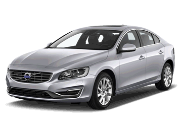 Volvo V60 silver Electric car EV