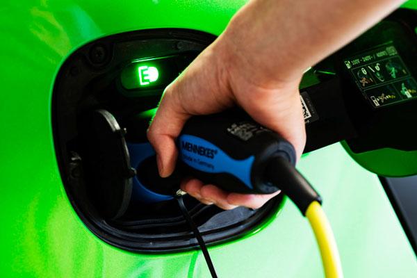 Charging a green car