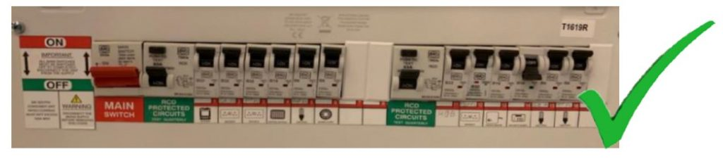 Example of fuse board