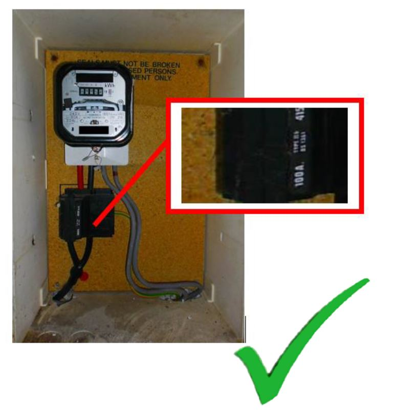 Example of electric meter area
